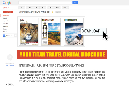 Digital Brochure Email Attachment