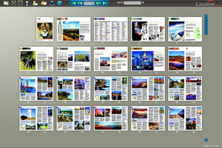Digital Flash Brochure contents page