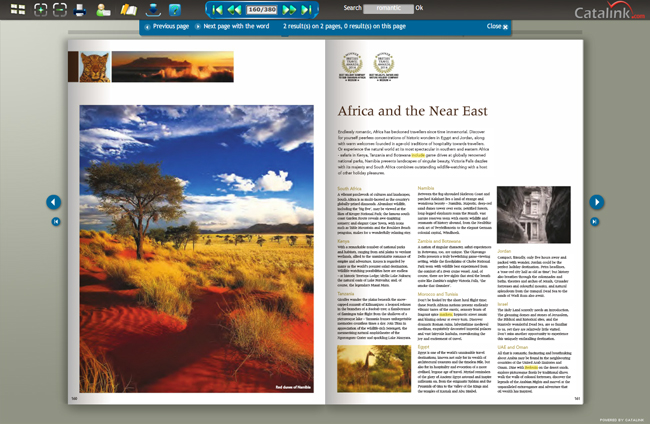 Digital Brochure Double Page Spread